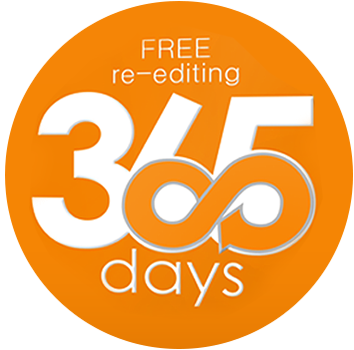 365 days free re-editing services