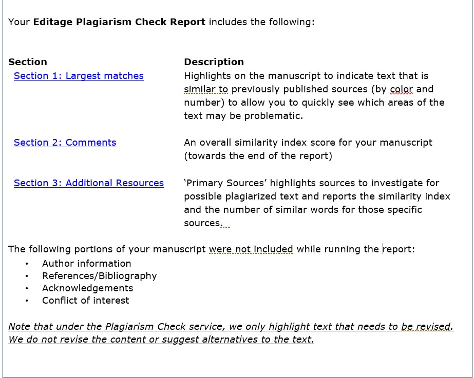 Plagiarism Check Report Sample