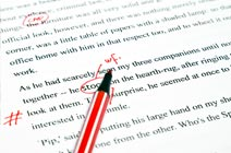 What aspects of English grammar are covered in the English grammar correction services?
