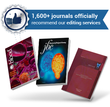 1,600+ journals officially recommend our editing services
